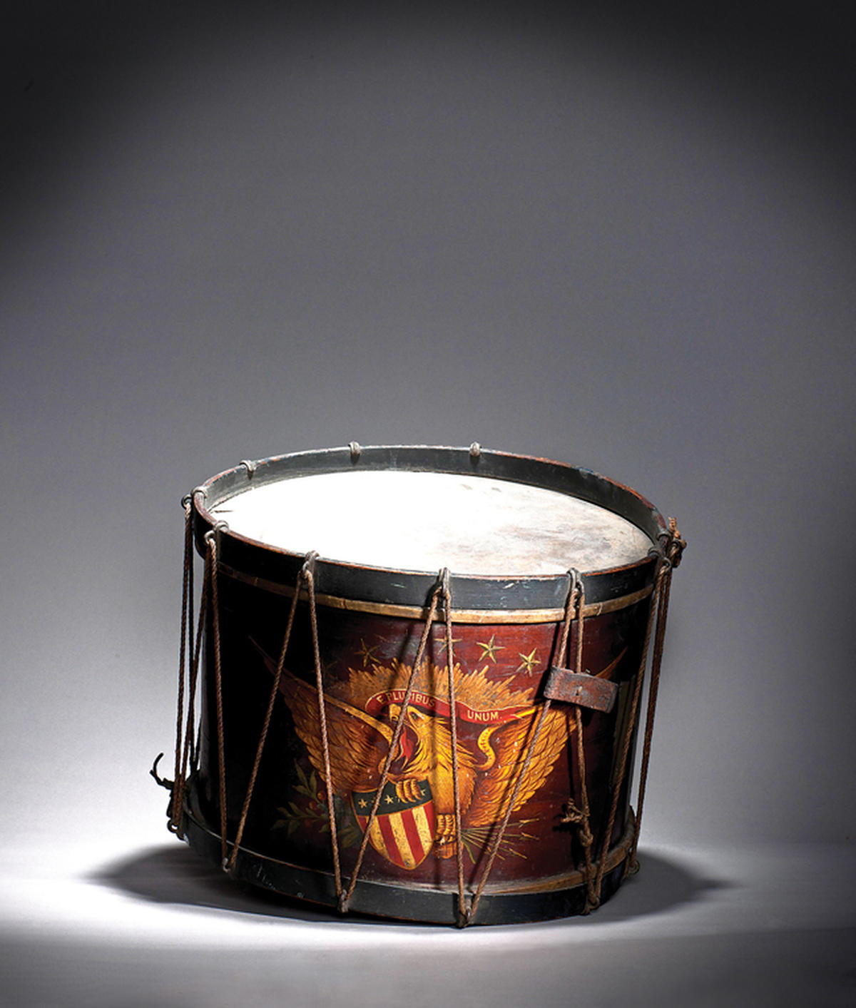 DRUM OWNED BY UNION DRUMMER BOY JAMES W. SANK, 1863