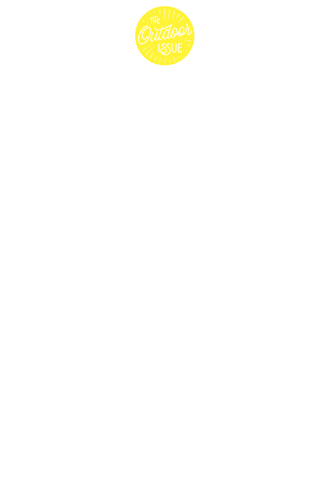 Happy Trails: 55 55 hiking and biking adventures to explore this spring and summer. By Ron Cassie. Lettering by Simon Walker